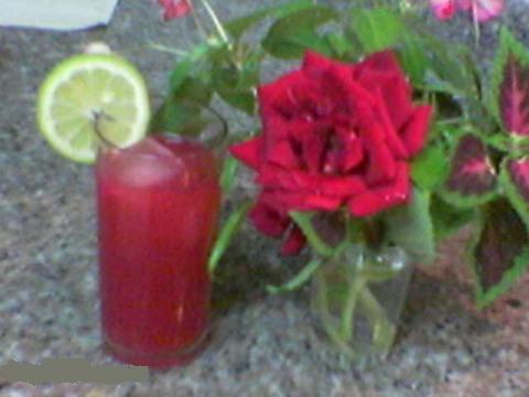 عصير الورد