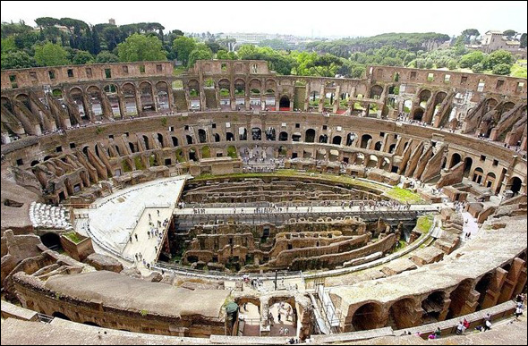 The Roman Colosseum (70 - 82 A.D.) Rome, Italy