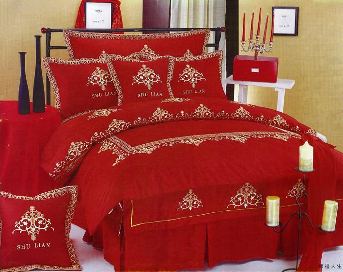 حمراء غرفة باللون الأحمر مفارش سرير باللون الاحمر 5297.png