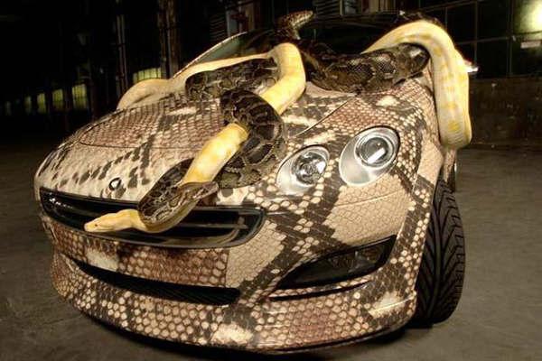 سيارة على شكل افعى