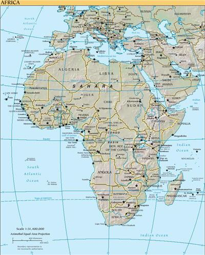 خريطة افريقيا