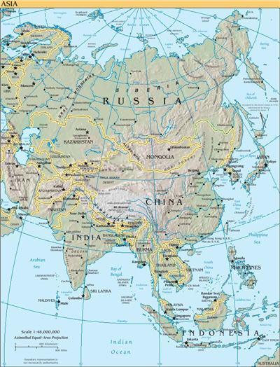 خريطة أسيا
