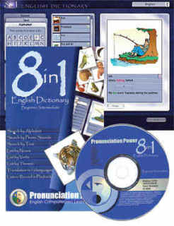 Dictionary The First Pronunciation Dictionary! 8 in 1 English Dictionary